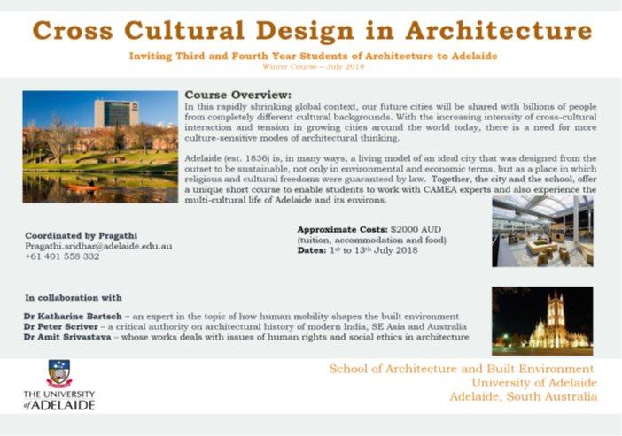 International Workshop - 2018 - University of Adelaide, Australia