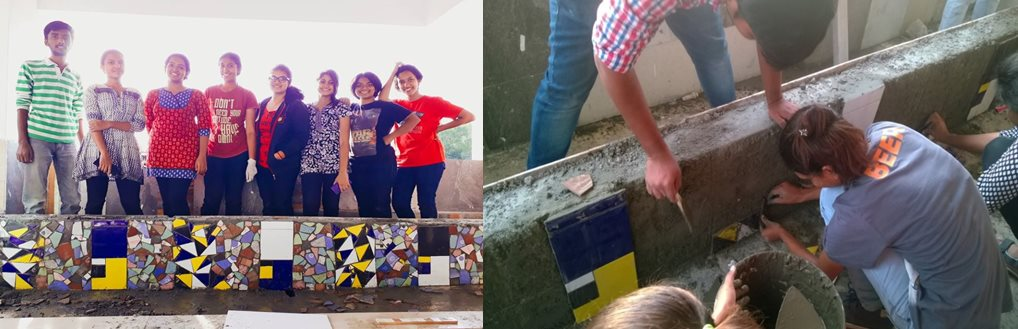 Ceramic tile and wall construction  workshop at SJB SAP