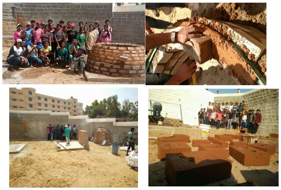 Arches, Vaults and Domes Workshop by Grama Vidya at SJB SAP's Construction Yard