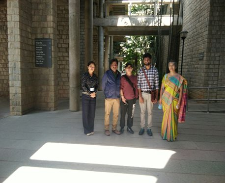 Guided tour of IIM-B for visiting dignitary, Prof. Meng yang – Professor,. Chong Quing University, China by Mr. Shivakumar, facilities head, IIM-B and Professors Vishwa Udchan, Mallika Balu and Smitha MB of SJB SAP. January 2018